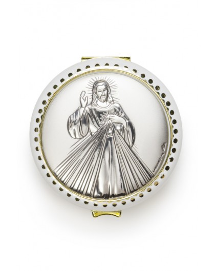 Divine Mercy silver Rosary Box