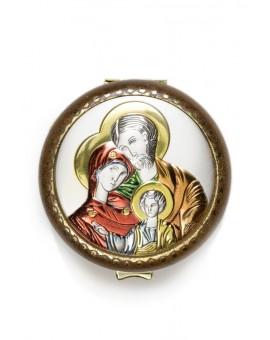 Holy Family silver Rosary Box