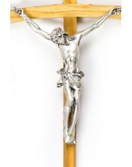 Light Wood thin Crucifix