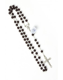 Garnet Silver Rosary