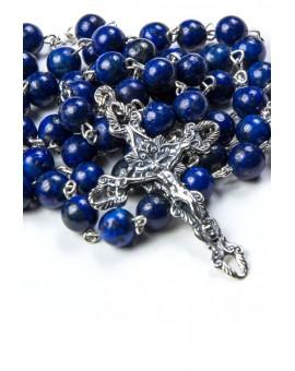 Lapis Lazuli Silver Rosary