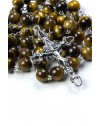 Tiger Eye Silver Rosary