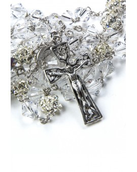 Pure Crystal Silver Rosary