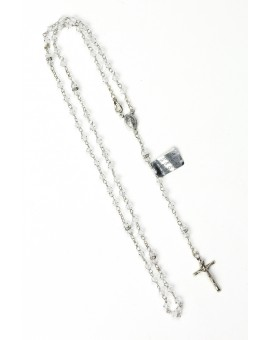 Pure Swarovski Crystal Silver Rosary Necklace