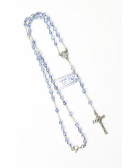 Sky Blue Crystal Necklace Sterling Silver
