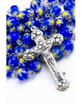 Murrina Blue Rosary small