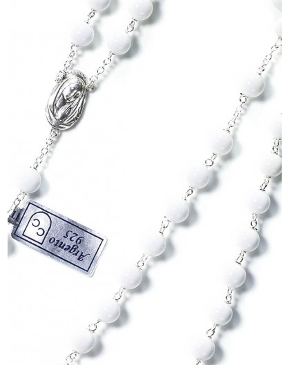 White Shell Rosary 6mm beads
