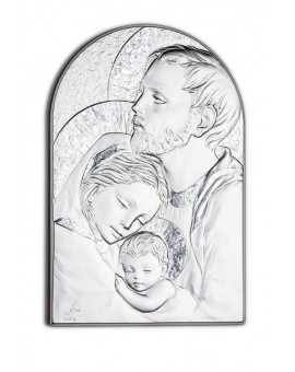 Holy Family Bilaminate Sterling Silver 0829