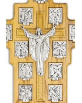 Olive Wood Via Crucis