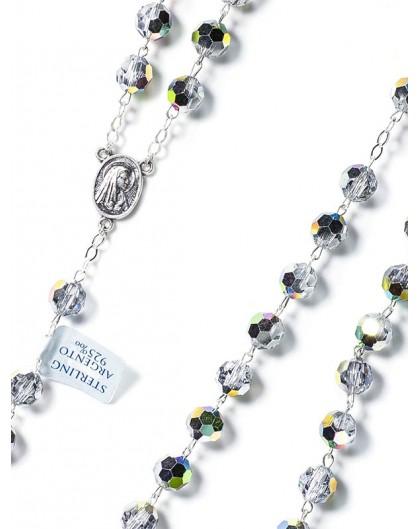 Silver Crystal Rosary