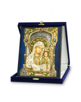 The Blue and Gold Icon -Virgin Mary and Jesus Child medium size