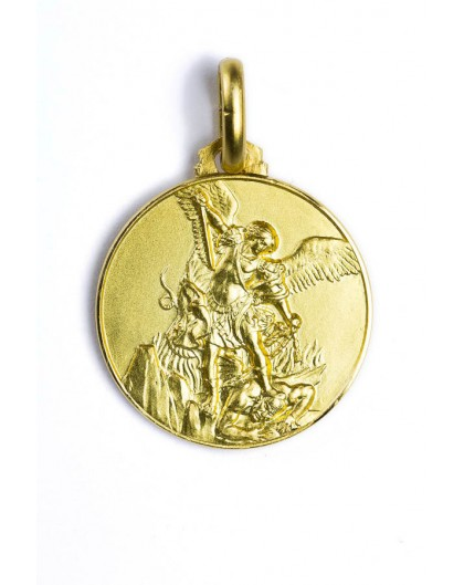 St michael archangel gold plated medal aloadofball Images