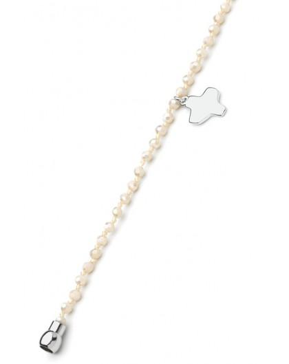 Crystal Bracelet - Ivory - Magnetic clip