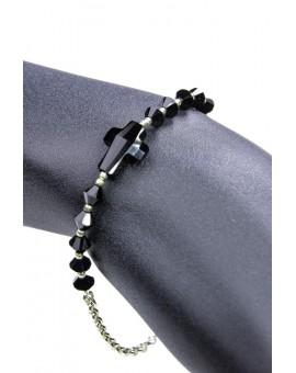 Swarovski Crystal Black Crucifix Bracelet