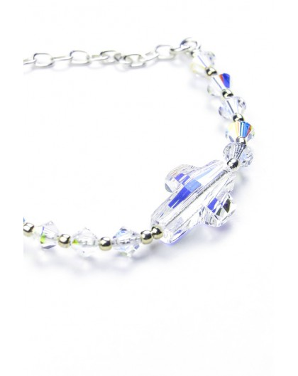 Swarovski Crystal Clear Crucifix Bracelet