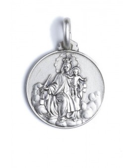 Carmel Virgin Mary sterling silver medal