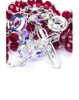 Swarovski crystal Circle Paters Red Rosary