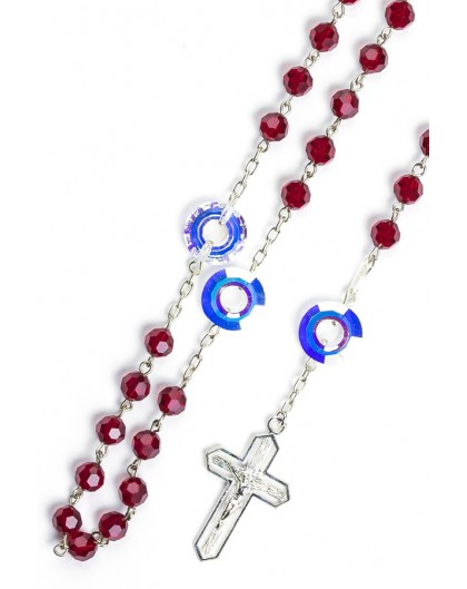 Pearl and Strass Sterling Silver Rosary