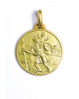 St. Christopher gold plated medal