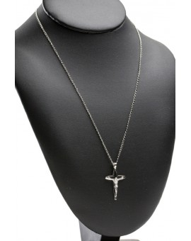 Sterling Silver Cuspid Crucifix with chain