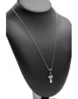 Sterling Silver Solid Crucifix with chain