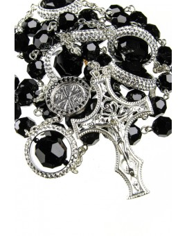 Strass Rings Black Swarovski Crystal Rosary