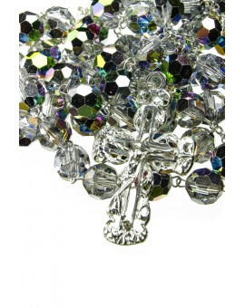 Aurora Grey Crystal Sterling Silver Rosary