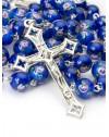 Deep Blue Murano Glass Rosary