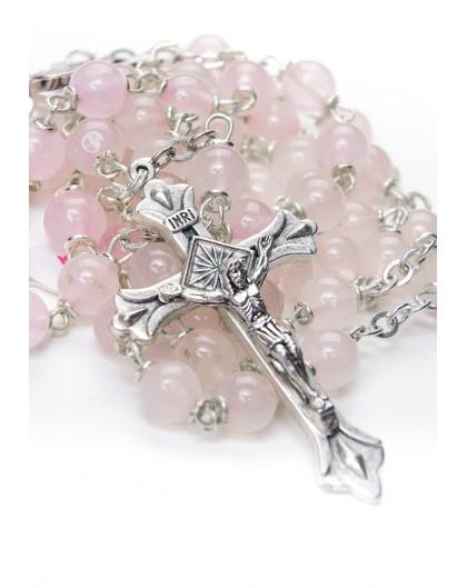 Pale Rose Quartz Rosary