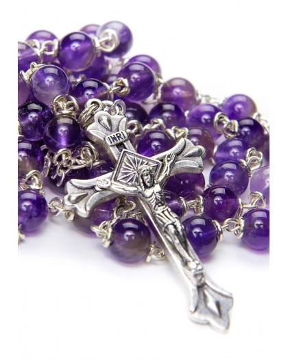 Violet Amethyst Rosary