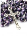 Violet Murano Glass Rosary