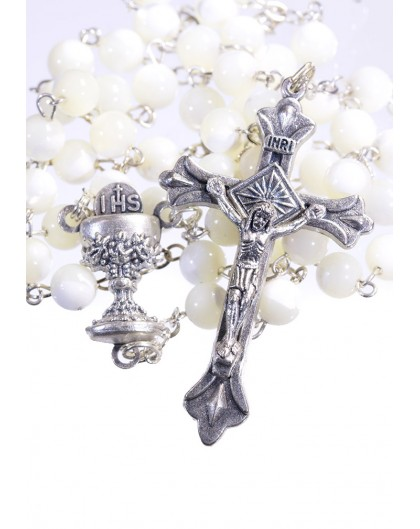 Holy Communion Mother of Pearl Rosary