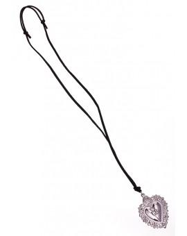 Ex Voto - Gratia received heart Necklace Silver