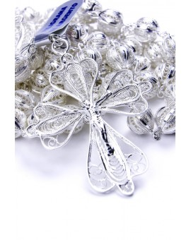 Sterling Silver Air Filigree Rosary
