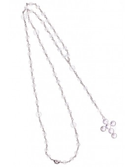 Circle Crucifix  - Swarovski Rosary