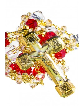 Red and Gold Swarovski Gold Plated Necklace