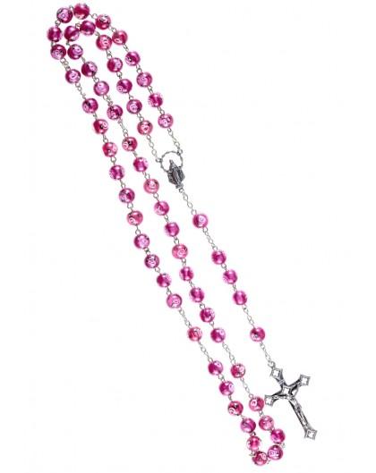 Rose Murano Glass Rosary