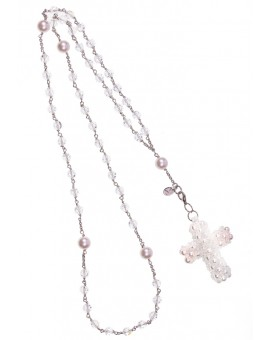 Pearls Crucifix  - Swarovski and Pearls Rosary