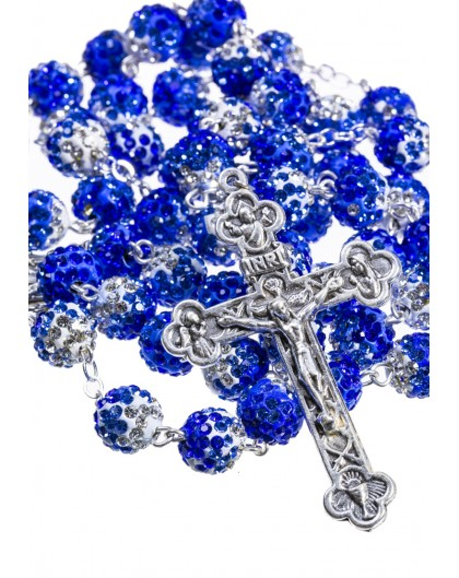 Shade of blue - Strass Rosary