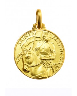 Saint Joan Of Arc Gold Plated Medal