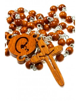 The Shape - wooden Rosary - Natural