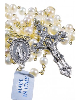 Natural River Pearl Rosary