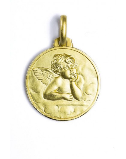 The Guardian Angel gold plated medal