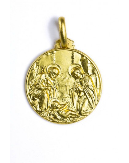 The Holy Nativity gold plated medal