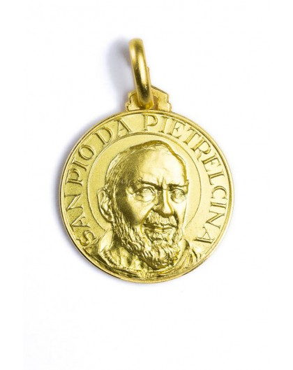 Padre Pio gold plated medal