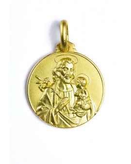 St. Joseph gold plated medal