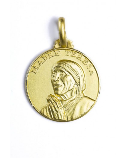 Mother Theresa gold plated medal