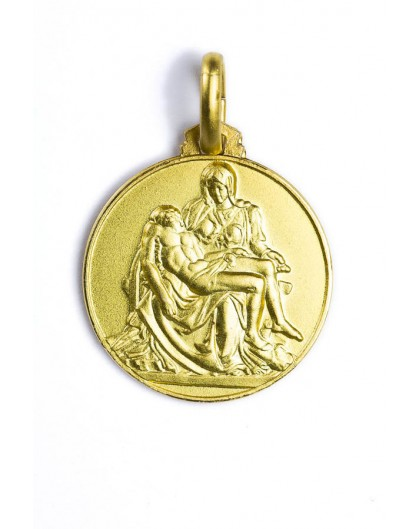 Michelangelo's Piety gold plated medal