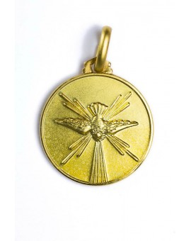 Holy Spirit gold plated medal