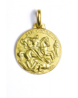 St. George gold plated medal
